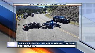 Multiple people injured in motorcycle crash north of Galena Summit - Video