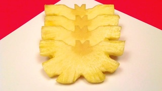 How to make a butterfly with a pineapple - Video