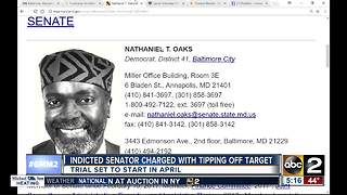 Indicted state senator charged with tipping off target - Video