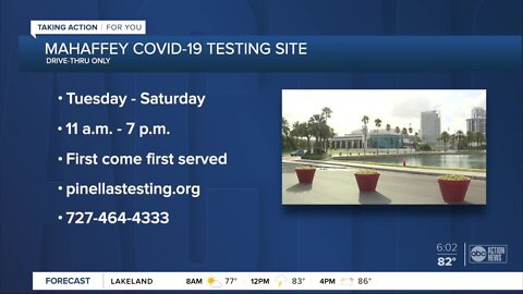 COVID-19 testing site opens Wednesday at Mahaffey Theater in St. Pete