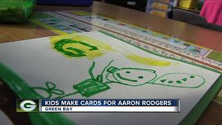Young Packers fans write get well cards for Aaron Rodgers - Video