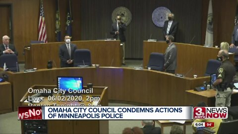 Omaha City Council Condemns Actions of Minneapolis Police
