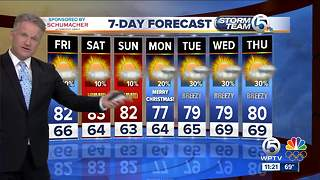 Latest Weather Forecast 11 p.m. Thursday - Video