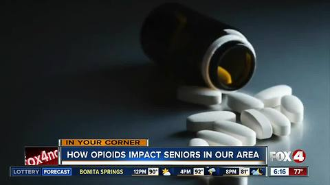 Opioid addiction affecting more seniors in recent years