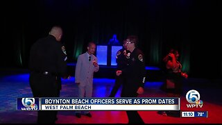 Boynton Beach police officers serve as prom dates