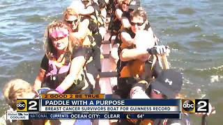Breast cancer survivors aim to break record in dragon boat race - Video