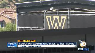Search for vandals who targeted Westview High School - Video