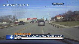 Two teens charged in stolen car chase in Cudahy - Video
