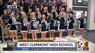West Clermont High School student body says hello