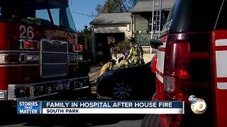 Family in hospital after Oak Park house fire - Video