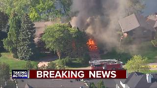 West Bloomfield Township home destroyed by fire - Video