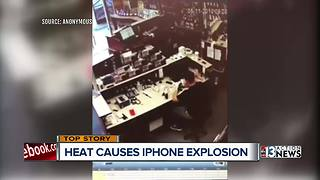 Phone explosion caught on camera - Video
