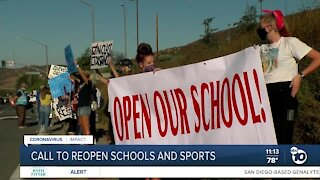 East County parents rally to reopen school and sports