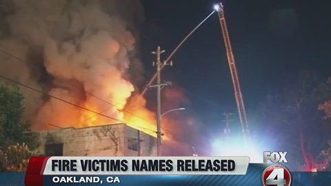 More victims identified in warehouse fire