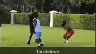 Antonio Brown BURNED by Hassan Whiteside in 2-on-2 Football Game - Video