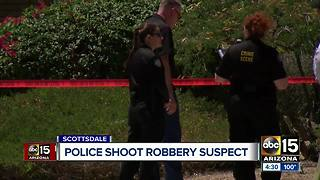 Scottsdale police shoot and kill bank robbery suspect - Video