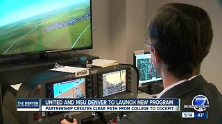 Flight path from college to United cockpit with MSU Denver partnership - Video