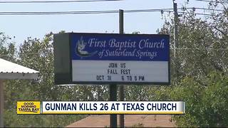 Gunman kills 26 during Sunday church service in Texas, shooter dead - Video