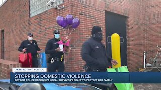 Detroit Police donate to help victim of domestic violence build new life for her children