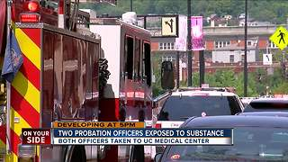 PD: 2 probation officers exposed to 'substance' - Video