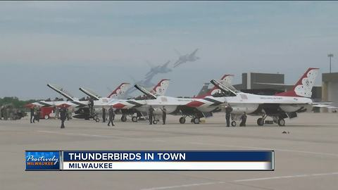 Thunderbirds in town for Air and Water Show