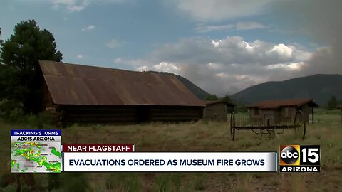 Evacuations ordered as Museum Fire grows near Flagstaff
