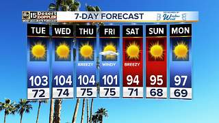 Hot week ahead for the Valley - Video