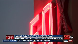 Iconic theater seeking donations to fix sign