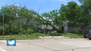 Clean-up from EF-1 tornado in Appleton - Video