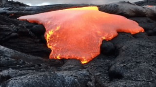 Lava Gushes From Hawaii's Kilauea Volcano - Video