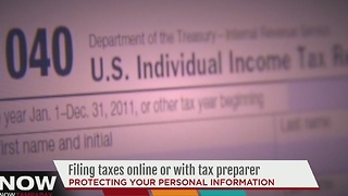 Filing taxes online vs with a tax preparer - Video