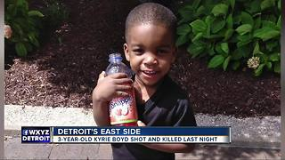 3-year-old shot and killed in Detroit last night