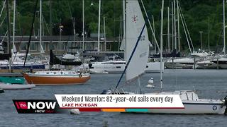 Weekend Warrior: 82-year-old sails every day - Video