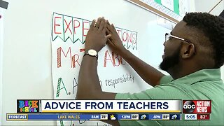 Advice from teachers ahead of the first day of school