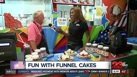 Fun with funnel cakes at the Kern County Fair