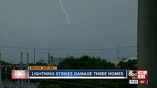 Lightning strike catches Pasco home on fire, officials say