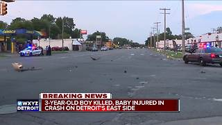 3-year-old killed in vehicle crash on Detroit's east side - Video
