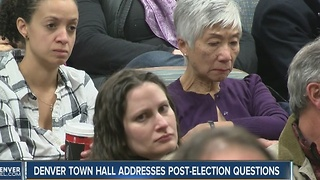 Denver town hall over election concerns - Video