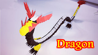 3D Origami Dragon Tutorial - how to make origami Dragon