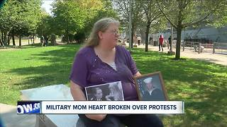 Military mom heartbroken over NFL protests - Video