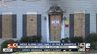 Annapolis family displaced after house fire Sunday - Video
