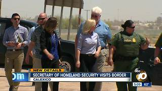 Homeland Security Secretary Kirstjen Nielsen visits border fence project in Calexico - Video