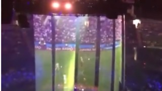 Justin Timberlake Projects England Semi-Final on Stage Before London Gig - Video