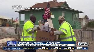 Mass shooting crosses moved to museum - Video