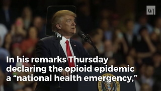 During Speech on Opioid Addiction, Trump Opens up About Losing His Brother to Alcoholism - Video