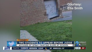 Students accused of painting slurs on school property due in court