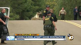 Possible murder, attempted suicide in Ramona - Video