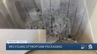 St. Lucie County recycling Styrofoam packaging
