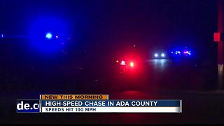 Five juveniles taken into custody after a high speed chase in Ada County this morning - Video