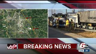 At least two people killed in crash involving multiple semis, car on I-65 near Lafayette - Video